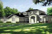 Traditional Style House Plan - 4 Beds 3.5 Baths 3622 Sq/Ft Plan #1-848 Exterior - Front Elevation