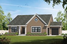 House Blueprint - Traditional Exterior - Front Elevation Plan #20-2425