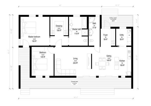 Modern Floor Plan - Main Floor Plan Plan #549-8