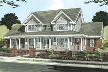 Dream House Plan - Farmhouse Exterior - Front Elevation Plan #513-2050