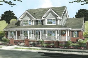 Farmhouse Exterior - Front Elevation Plan #513-2050