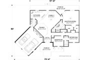 Craftsman Style House Plan - 3 Beds 3 Baths 1989 Sq/Ft Plan #56-717 Floor Plan - Main Floor Plan