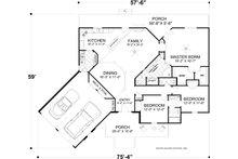 Craftsman Floor Plan - Main Floor Plan Plan #56-717