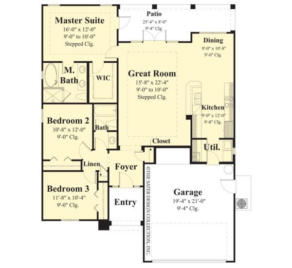 House Plan Design - Ranch Floor Plan - Main Floor Plan #930-484
