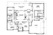 European Style House Plan - 4 Beds 4.5 Baths 4510 Sq/Ft Plan #17-1171 Floor Plan - Main Floor Plan