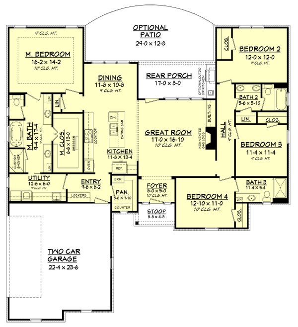 Traditional Floor Plan - Main Floor Plan Plan #430-162