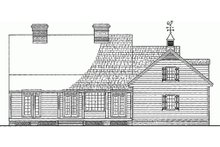 Country Exterior - Rear Elevation Plan #137-125