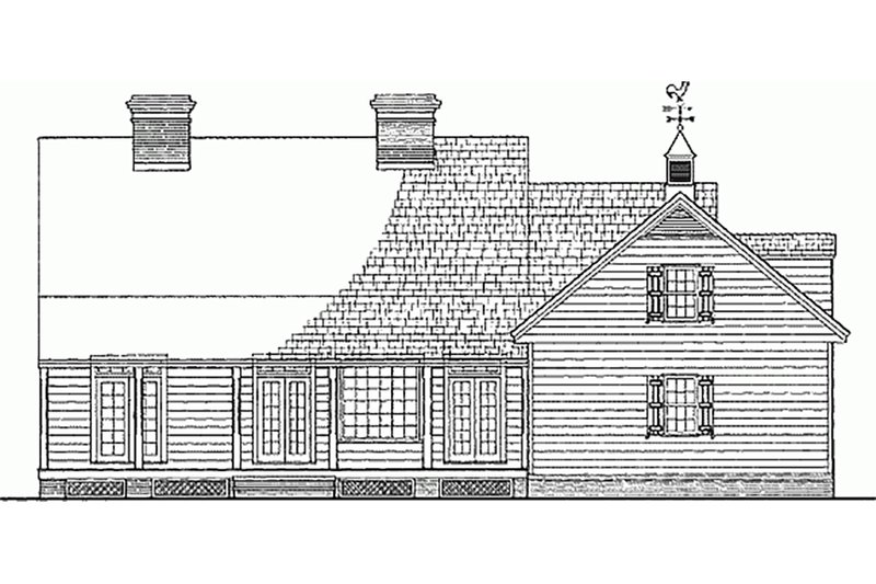Country Exterior - Rear Elevation Plan #137-125 - Houseplans.com