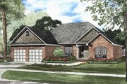 European Style House Plan - 3 Beds 2 Baths 1909 Sq/Ft Plan #17-1105