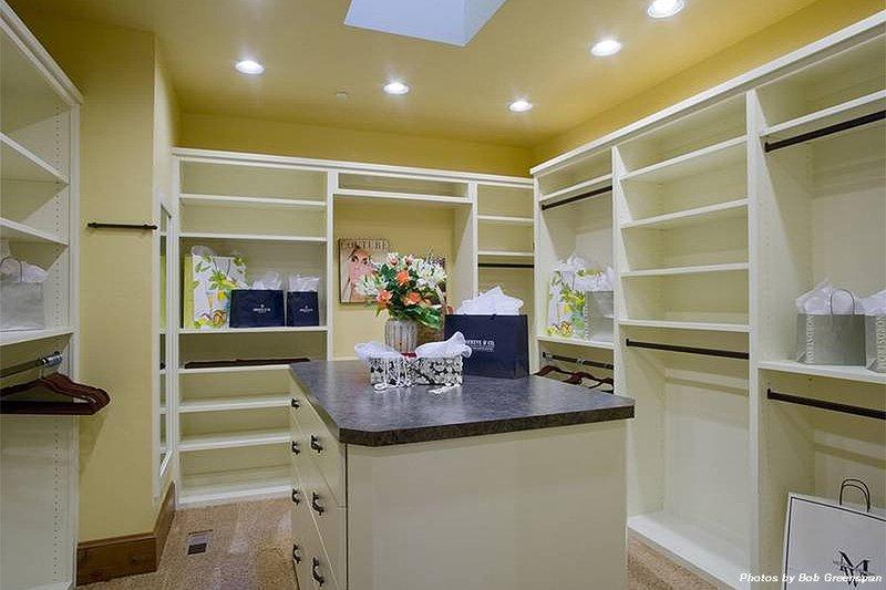 Master Bedroom Closet - 4000 square foot European home