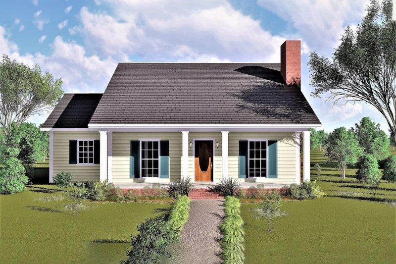 Dream House Plan - Farmhouse Exterior - Front Elevation Plan #44-119