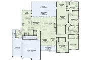 Traditional Style House Plan - 4 Beds 2.5 Baths 2907 Sq/Ft Plan #17-2616 Floor Plan - Main Floor Plan