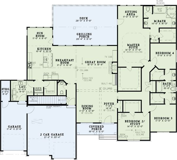 Traditional Floor Plan - Main Floor Plan Plan #17-2616