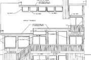 Modern Style House Plan - 3 Beds 2 Baths 2182 Sq/Ft Plan #116-117 Exterior - Rear Elevation