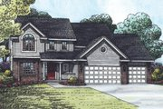 Traditional Style House Plan - 4 Beds 2.5 Baths 2326 Sq/Ft Plan #20-2054 Exterior - Front Elevation