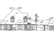 European Style House Plan - 4 Beds 3.5 Baths 3290 Sq/Ft Plan #310-328 Exterior - Rear Elevation
