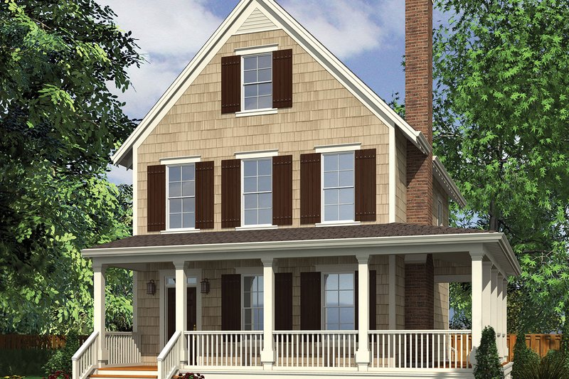 Farmhouse Exterior - Front Elevation Plan #48-964