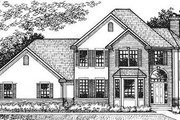 European Style House Plan - 3 Beds 2.5 Baths 2503 Sq/Ft Plan #320-147 Exterior - Front Elevation