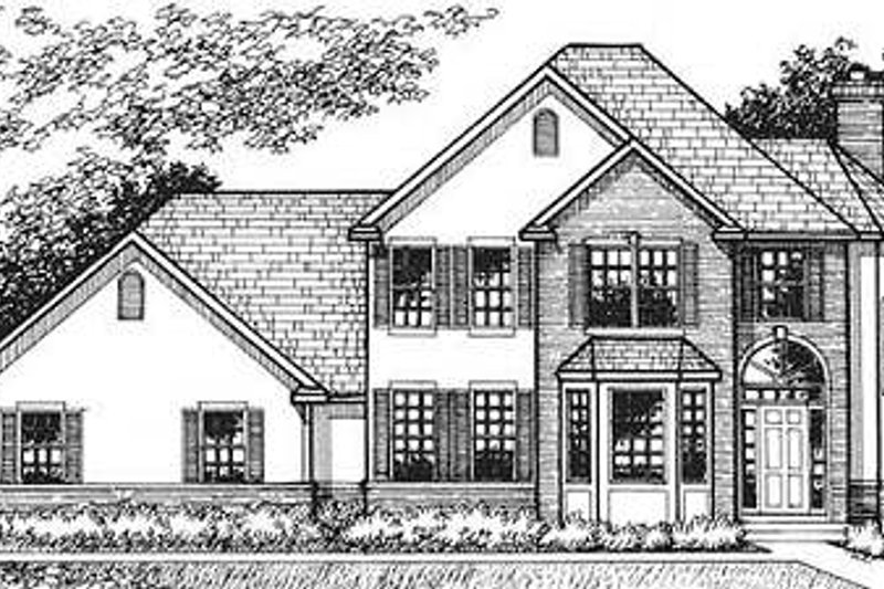 European Exterior - Front Elevation Plan #320-147