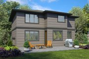 Contemporary Style House Plan - 4 Beds 2.5 Baths 2548 Sq/Ft Plan #48-990 Exterior - Rear Elevation