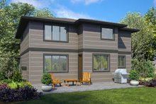 Architectural House Design - Contemporary Exterior - Rear Elevation Plan #48-990
