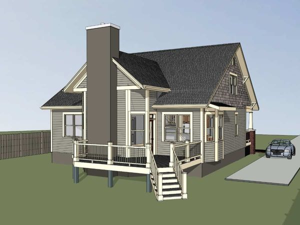 Dream House Plan - Craftsman Floor Plan - Lower Floor Plan #79-234