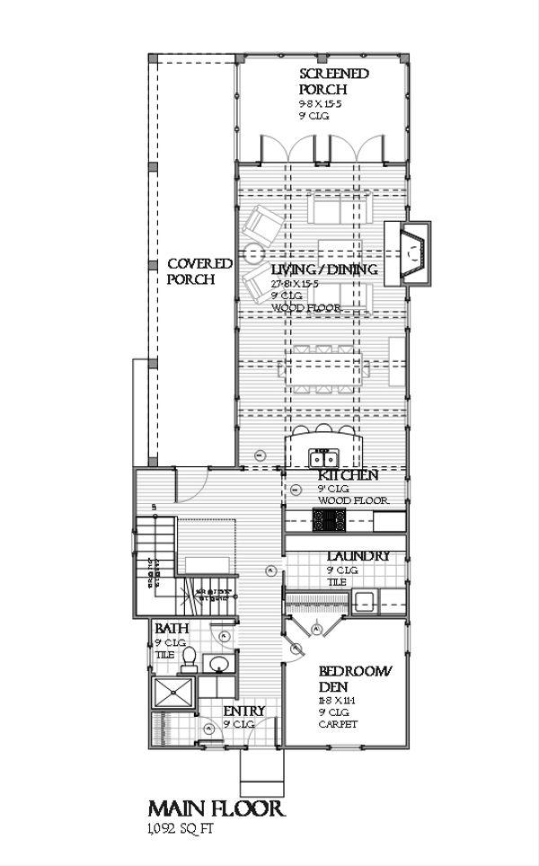 Beach Floor Plan - Main Floor Plan #901-113
