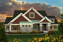 House Plan Design - Farmhouse Exterior - Front Elevation Plan #70-1172