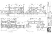 Traditional Style House Plan - 4 Beds 3 Baths 3089 Sq/Ft Plan #47-197 Exterior - Rear Elevation