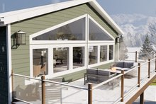 Architectural House Design - Traditional Exterior - Outdoor Living Plan #1060-95