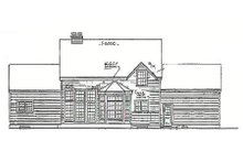 Southern Exterior - Rear Elevation Plan #3-207