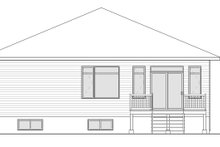 Modern Exterior - Rear Elevation Plan #23-2698