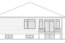 Modern Exterior - Rear Elevation Plan #23-2698
