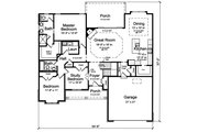 Traditional Style House Plan - 3 Beds 2.5 Baths 1814 Sq/Ft Plan #46-894 Floor Plan - Main Floor