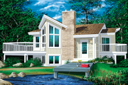 Contemporary Style House Plan - 1 Beds 1 Baths 772 Sq/Ft Plan #25-1089 Exterior - Front Elevation