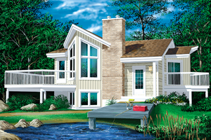 Contemporary Exterior - Front Elevation Plan #25-1089