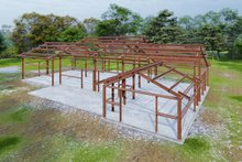 Architectural House Design - Farmhouse Exterior - Other Elevation Plan #120-274