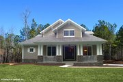 Bungalow Style House Plan - 3 Beds 2.5 Baths 1997 Sq/Ft Plan #929-38 Exterior - Front Elevation