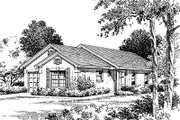 Mediterranean Style House Plan - 3 Beds 2 Baths 1151 Sq/Ft Plan #417-106 Exterior - Front Elevation
