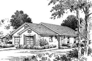 Mediterranean Exterior - Front Elevation Plan #417-106