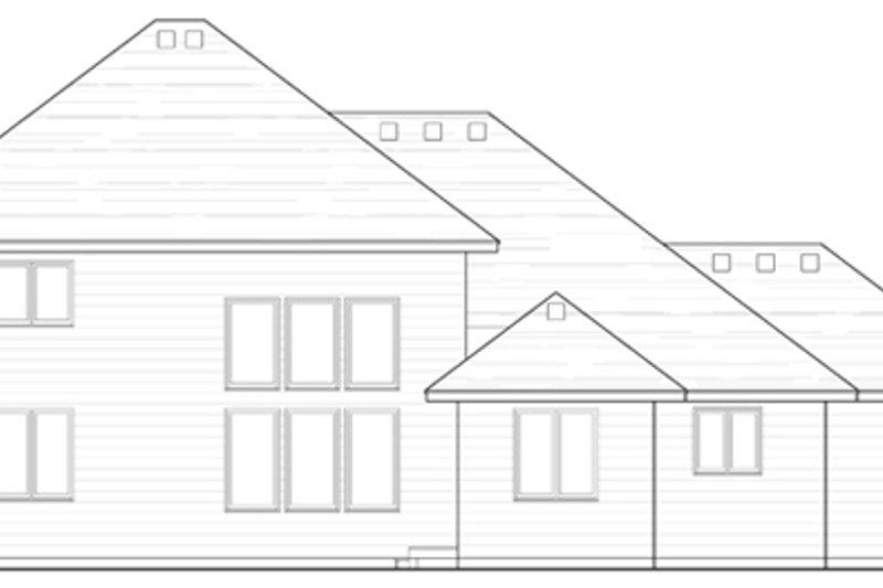 Craftsman Exterior - Rear Elevation Plan #51-385 - Houseplans.com