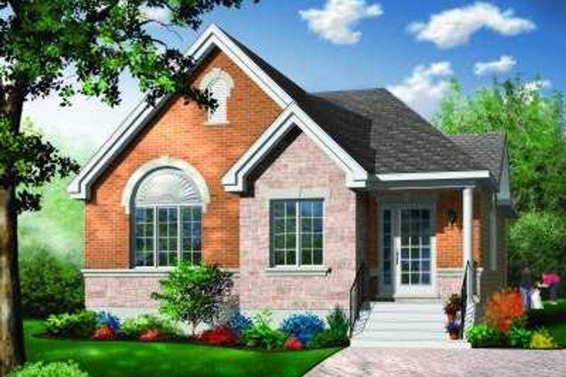 Dream House Plan - European Exterior - Front Elevation Plan #23-352