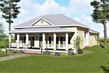 Southern Exterior - Front Elevation Plan #44-192