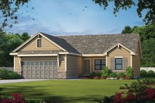 Dream House Plan - Craftsman Exterior - Front Elevation Plan #20-2182