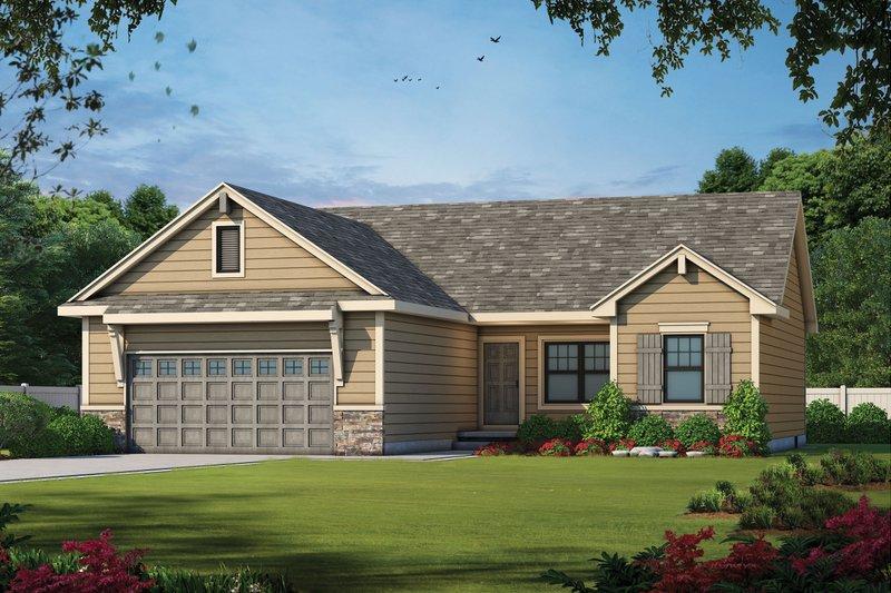 Home Plan - Craftsman Exterior - Front Elevation Plan #20-2182