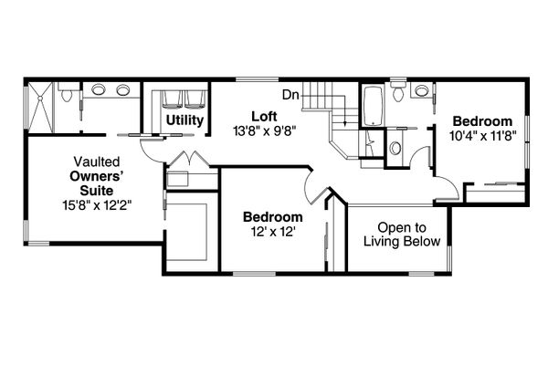 House Plan Design - Floor Plan - Upper Floor Plan #124-1004