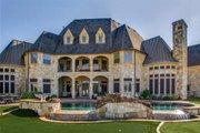 European Style House Plan - 6 Beds 6.5 Baths 7236 Sq/Ft Plan #119-169 Exterior - Rear Elevation
