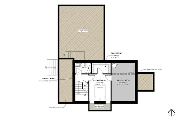 Farmhouse Floor Plan - Lower Floor Plan Plan #933-8