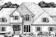 European Style House Plan - 3 Beds 2.5 Baths 2130 Sq/Ft Plan #20-724 Exterior - Front Elevation