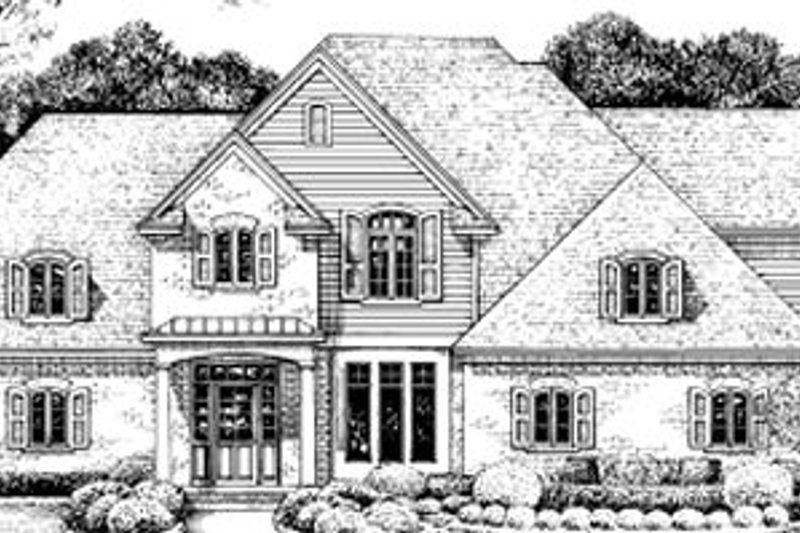 European Exterior - Front Elevation Plan #20-724